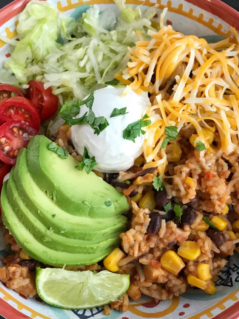 Instant Pot Chicken Burrito Bowls Together As Family