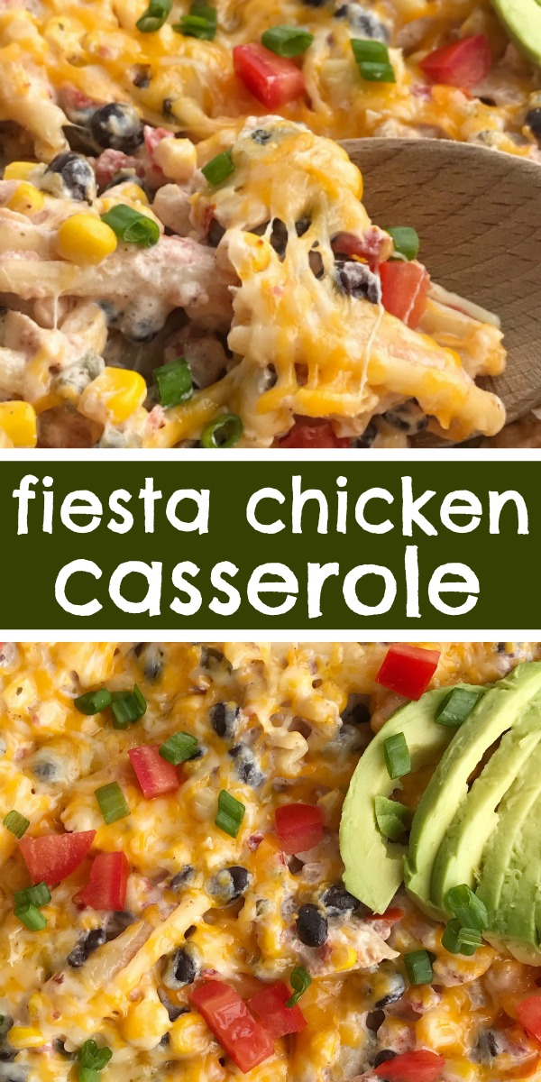 Fiesta Chicken Casserole Together As Family