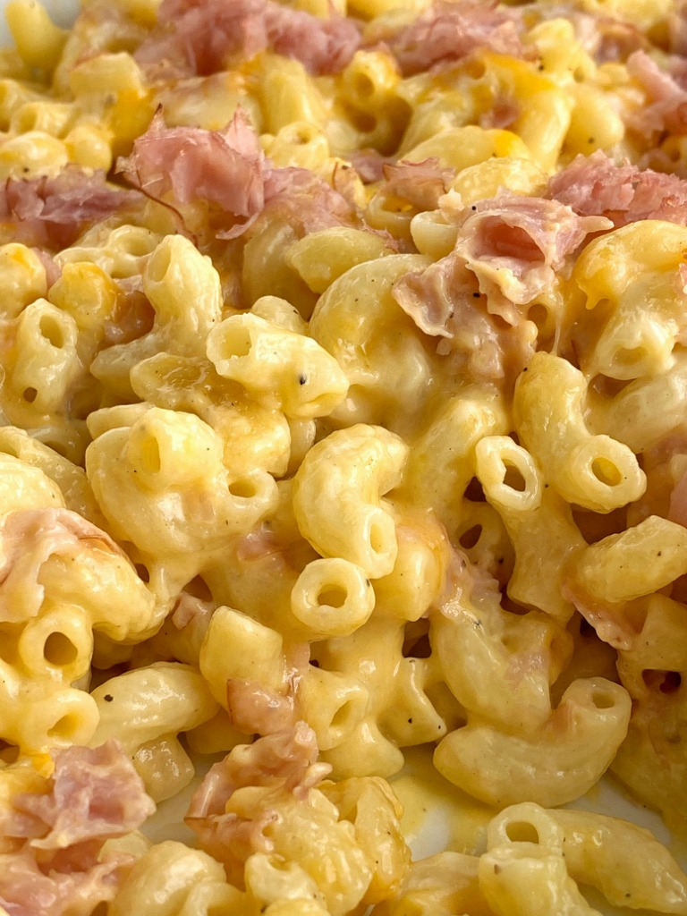 Macaroni Cheese Ham Casserole Together As Family