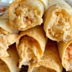 Quick & Easy Chicken Flautas | Flautas | Mexican Food | Dinner Recipe | Flautas are a quick & easy dinner recipe that is ready in just 30 minutes! Cheesy salsa chicken filling inside flour tortillas and baked to crispy perfection. Serve with sour cream, guacamole, and salsa for dipping. #easydinnerrecipes #dinner #chicken #easyrecipe #mexicanfood #recipeoftheday #flautas