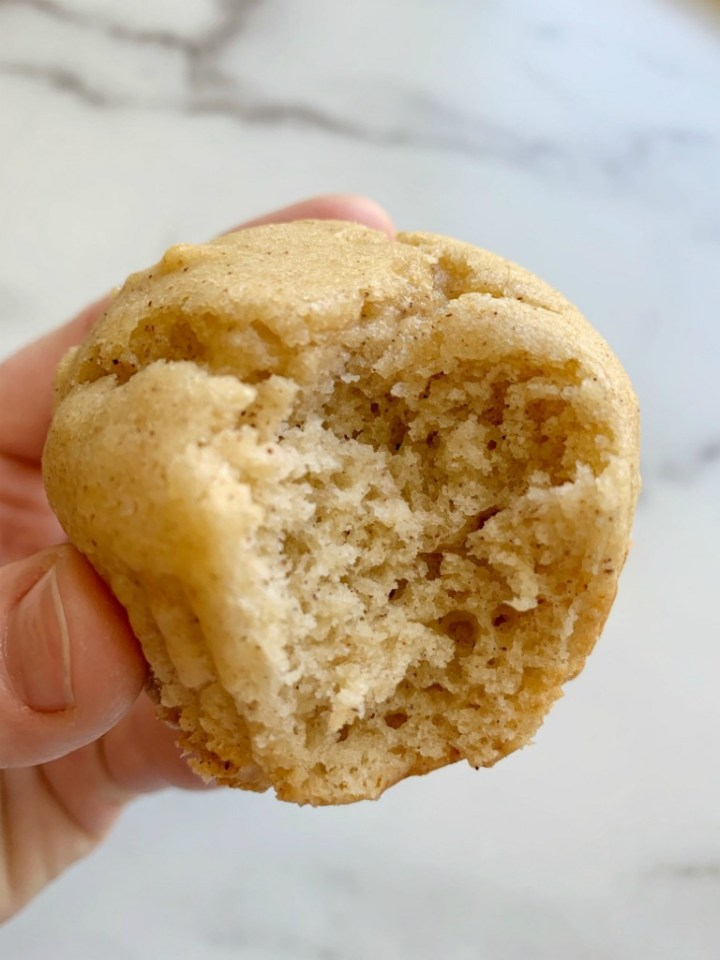 Applesauce Muffins are so moist, lightly sweet, and easy to make in one bowl with no mixer needed! Sour cream and applesauce makes these muffins so moist, and they bake up perfectly round each and every time. You will love these delicious muffins!