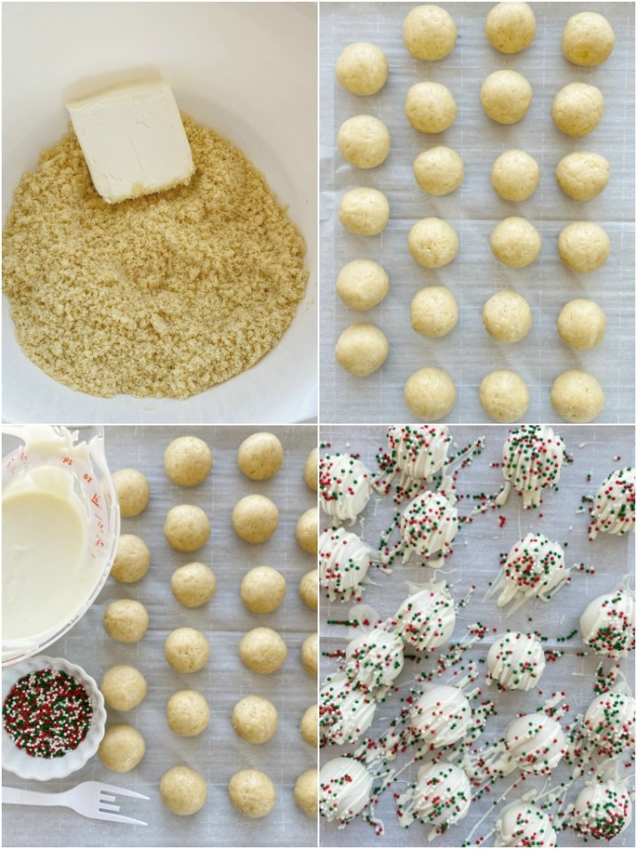 How to make sugar cookie truffles with step-by-step picture instructions.
