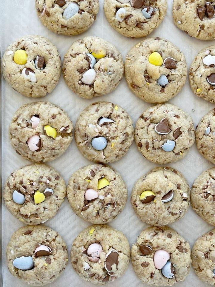 Easter cookie recipe with Cadbury mini eggs.