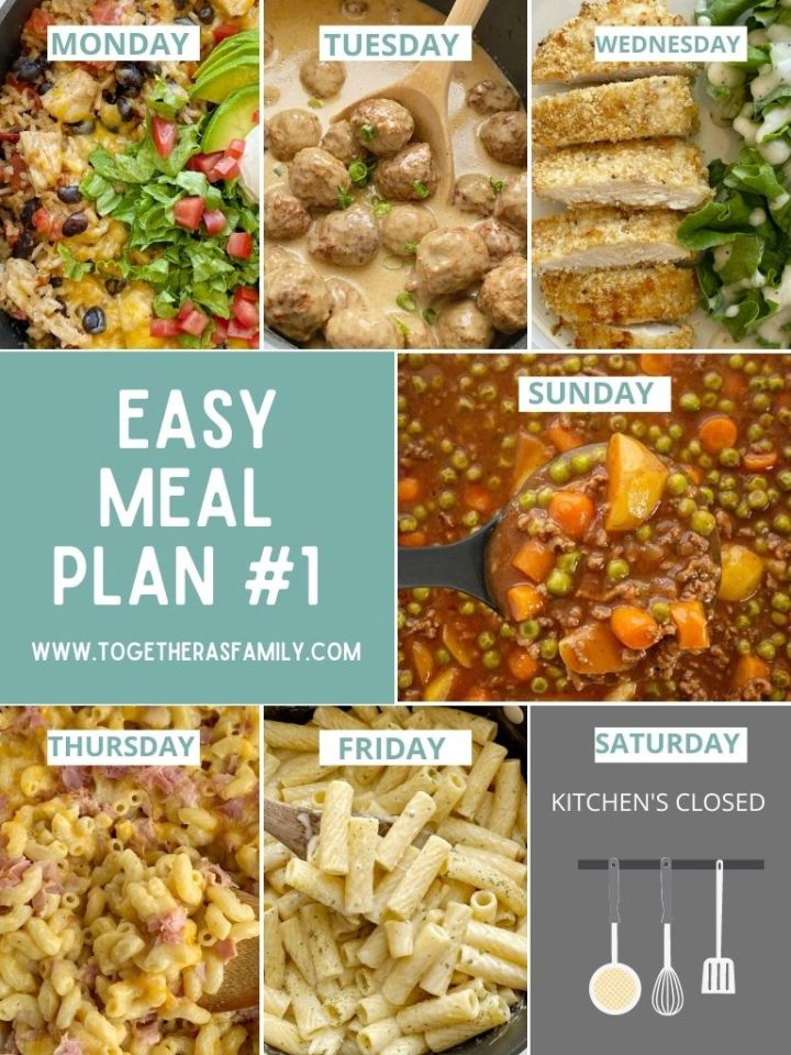 Family meal planning ideas with an easy menu plan