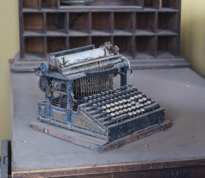 Old typewriter found at the newsagents at Bodie State Park, California