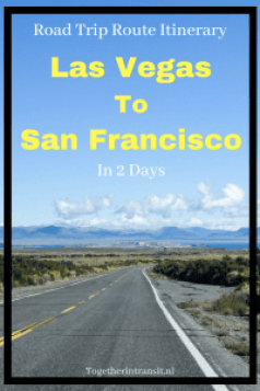 Road Trip Itinerary from Las Vegas to San Francisco in 2 days #travel #Usa