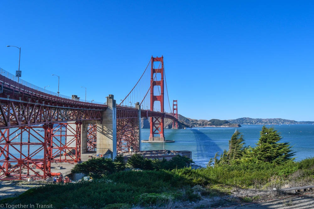 Viewpoint from South Side of Golden Gate Bridge