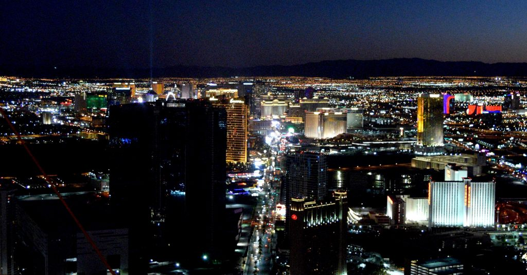 Viewpoint in the Stratosphere in Las Vegas