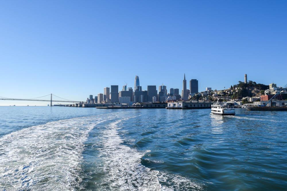 San Francisco highlights - boat to Alcatraz