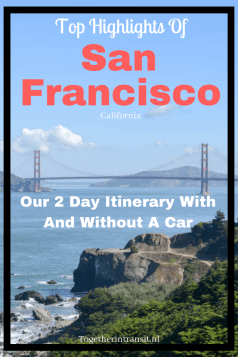 San Francisco Highlights - Our 2 Day Itinerary With And Without A Car, such as seeing the WW2 bunker, Sutro Baths, Alcatraz and Cycling the Golden Gate Bridge! See more at togetherintransit.nl