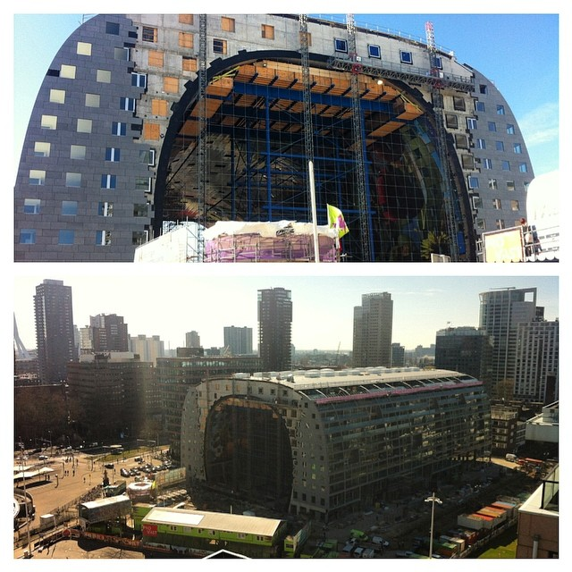 During the build of the Markthal in Rotterdam