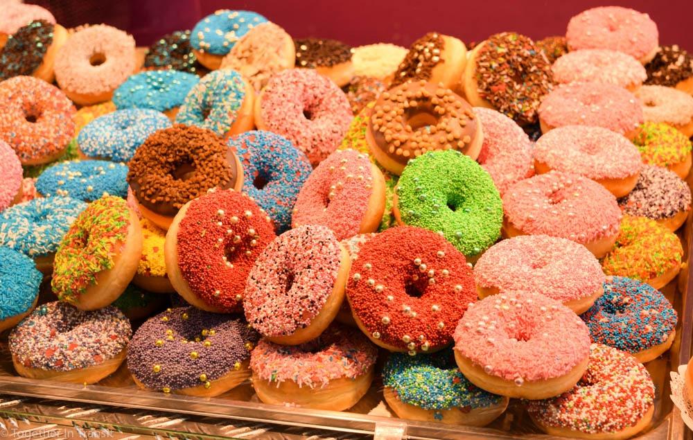 Doughnuts at the Markthal Rotterdam