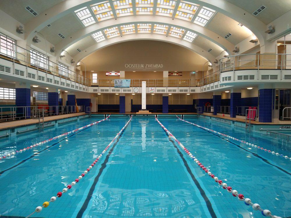 Swimming inside at the Oostelijk Zwembad In Kralingen
