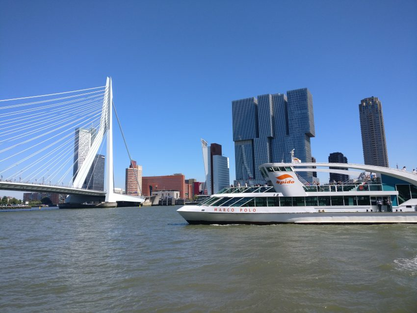 The Spido harbour tour in Rotterdam during the summer