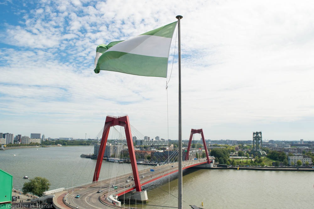 The view from the Witte Huis on open monumentendag Rotterdam