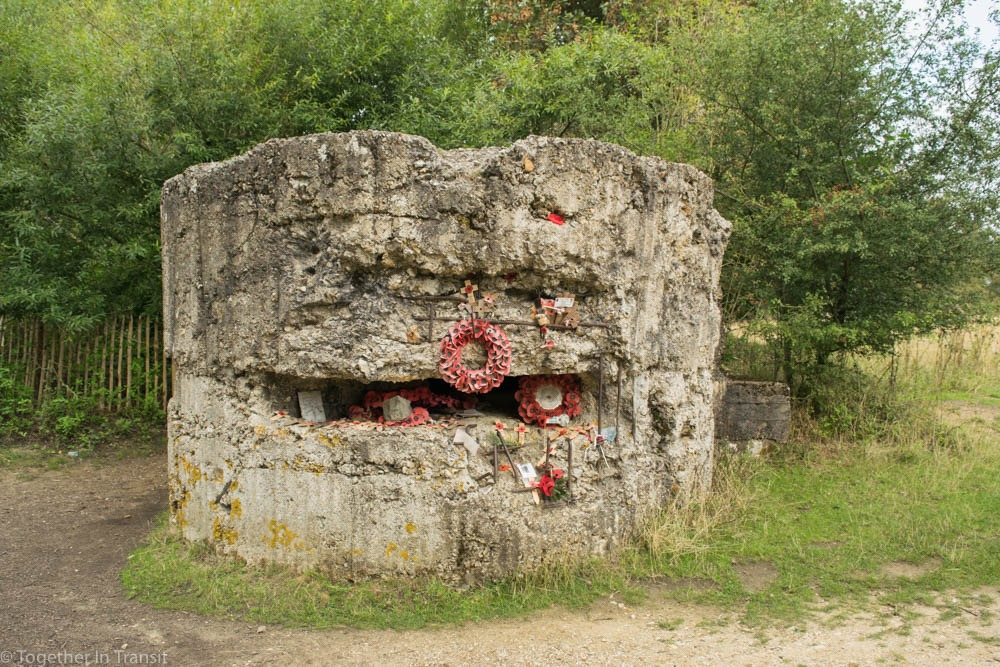 Bunker build at Hill 60, close to Ypres in Belgium.