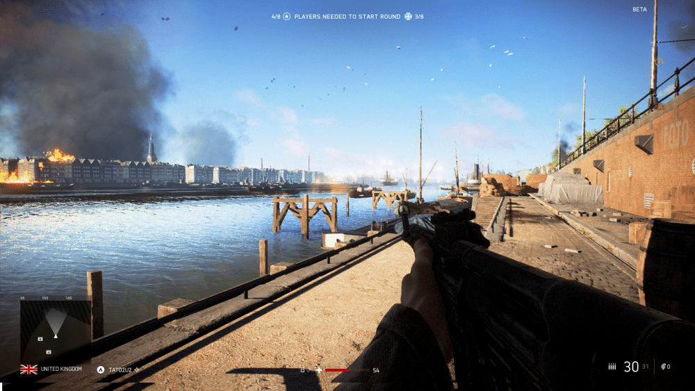 Next to the River Maas in Rotterdam - Battlefield 5 Rotterdam Map Comparison