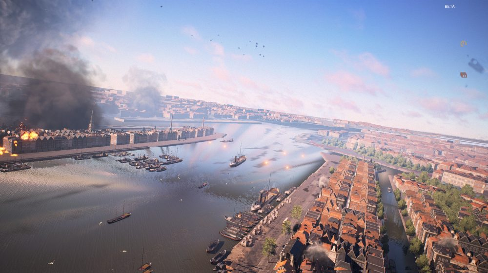 Battlefield 5 Rotterdam Map Comparison The River Maas in Rotterdam