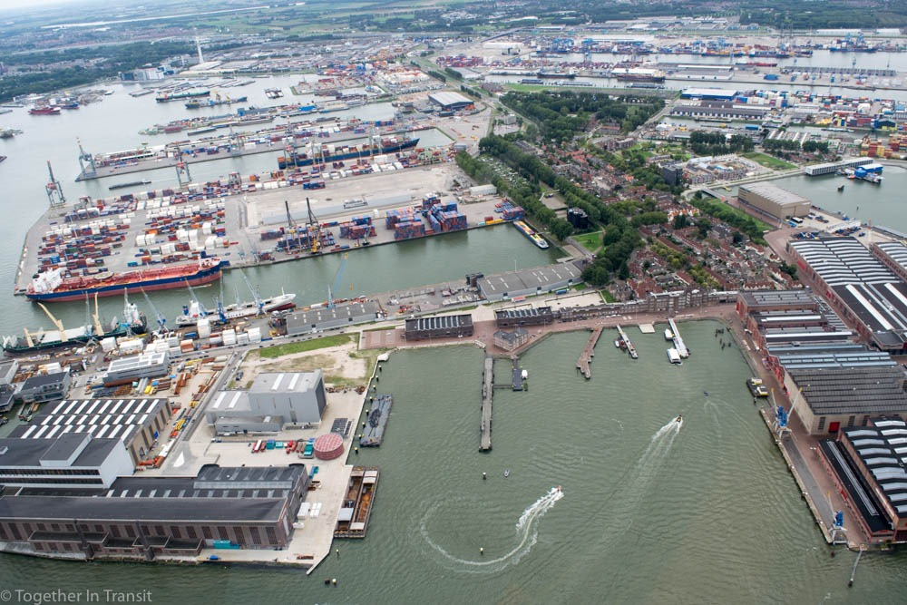 Heijplaat Rotterdam on our Rotterdam Helicopter Tour