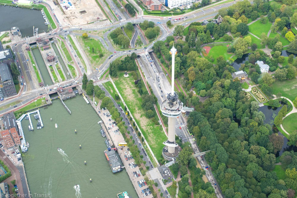 Rotterdam Helicopter Tour - Euromast from the Helicopter