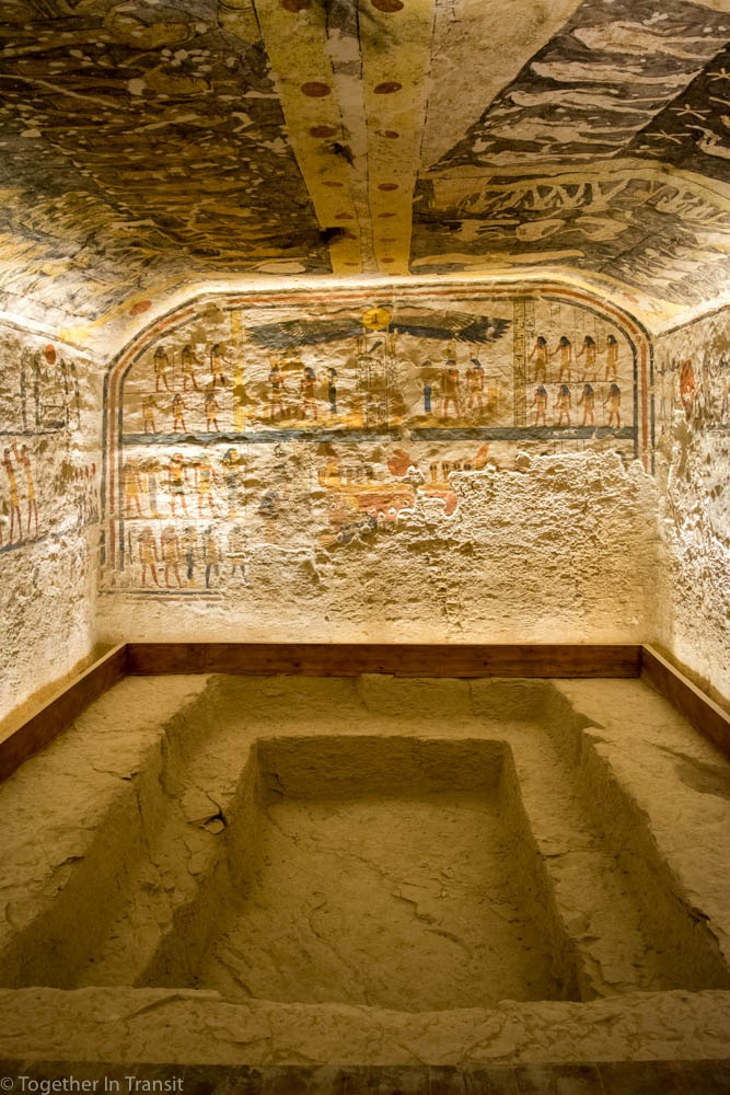 Valley Of The Kings - Ramesses IX KV6 the 9th inside the tomb in 2018