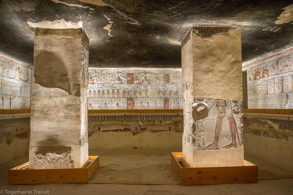 Valley Of The Kings - Seti 1 KV17 inside the tomb in 2018