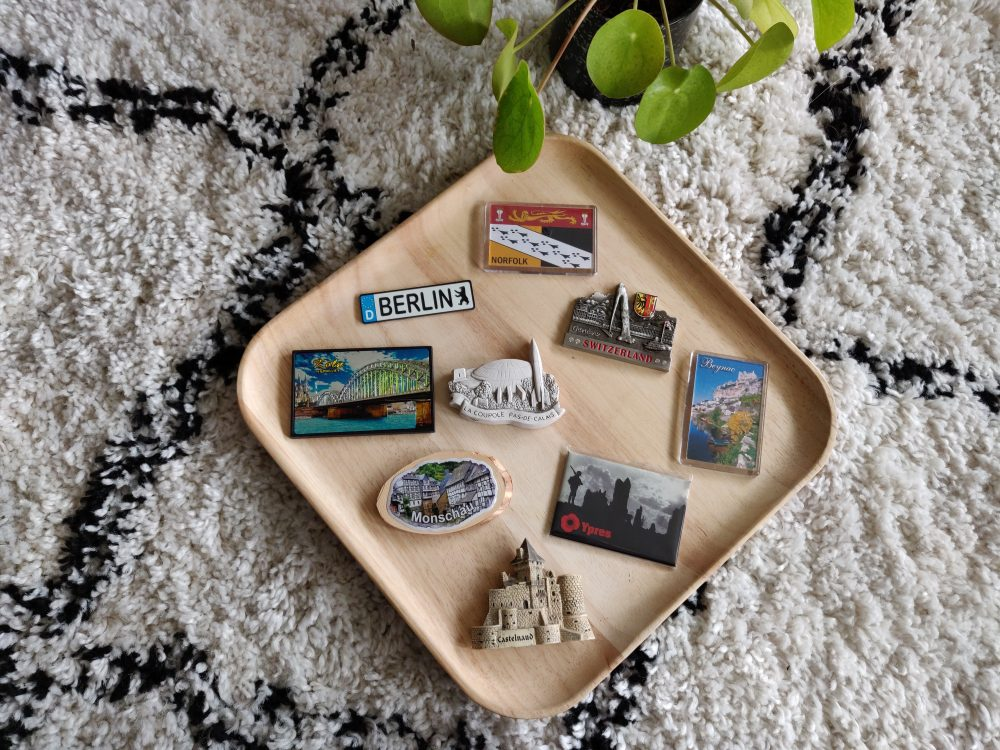 What do you collect as a travel souvenir? Our obsession is magnets from every location we've been!