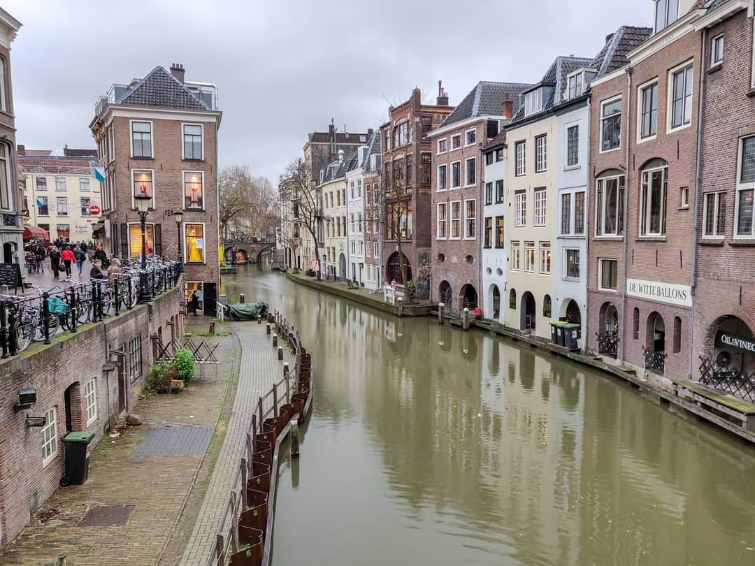 Weekend Getaway Ideas In The Netherlands - One of the beautiful canals in Utrecht, perfect to walk along during a visit.