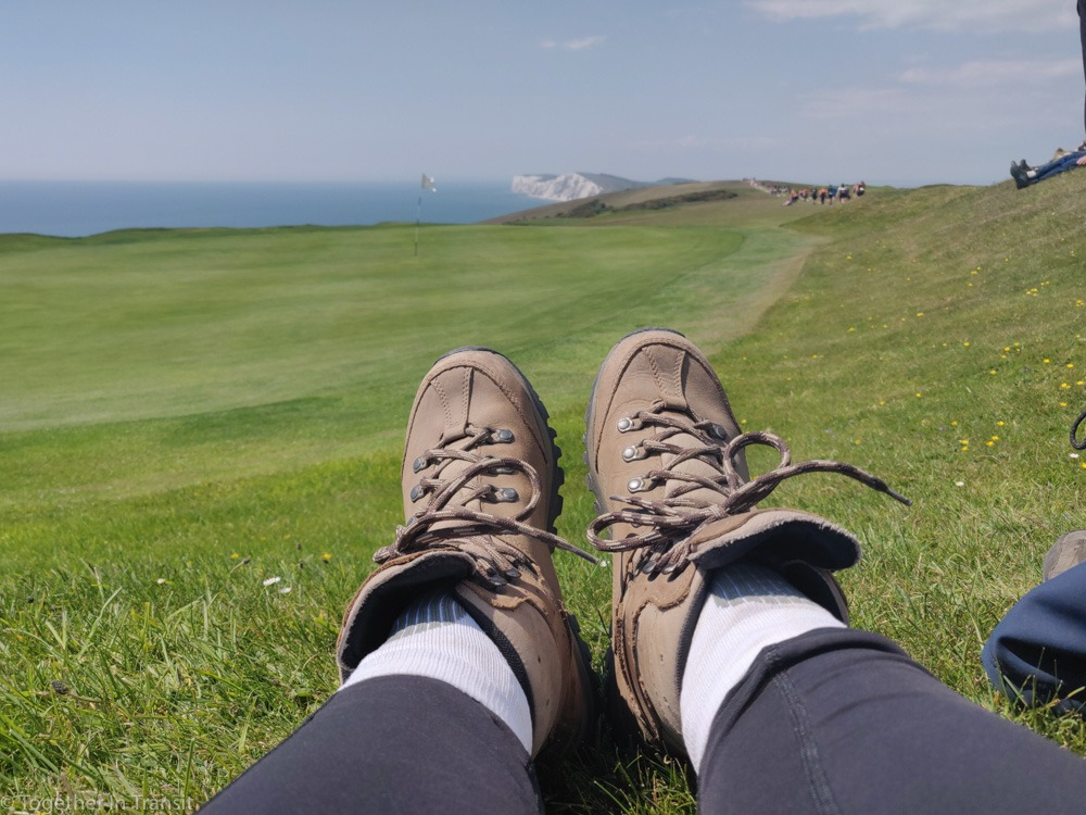 My hiking boots during Walk The Wight