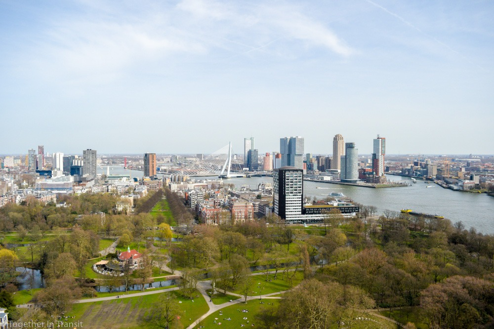 Check out these awesome Rotterdam skyline view locations for a bite to eat and a great place for a drink! togetherintransit.nl #travel #netherlands #rotterdam #skyline