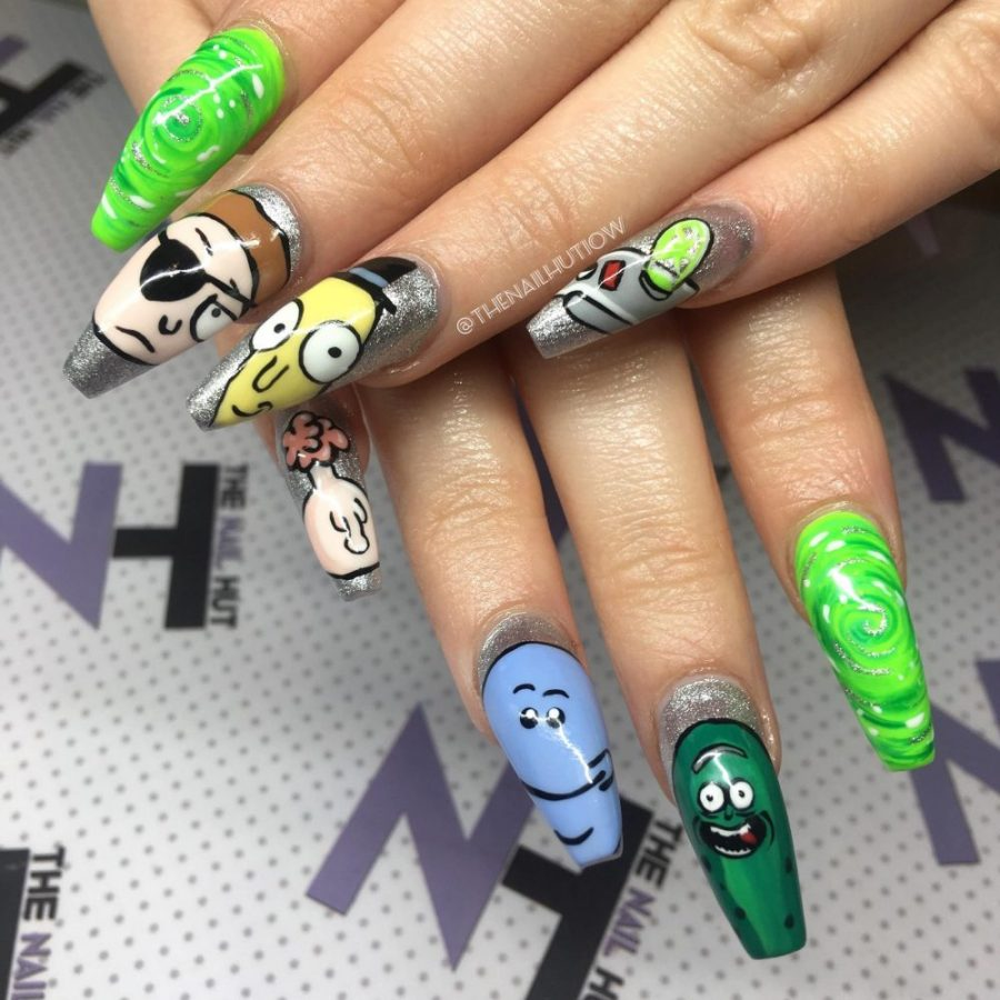 The Nail Hut decorated nails
