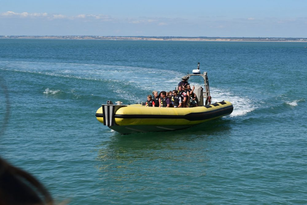 boat ride around the Needles, Isle of WIght