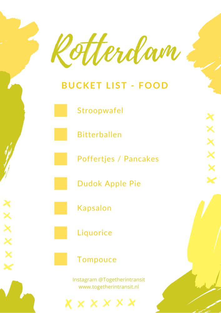 Food bucket list for Rotterdam Netherlands