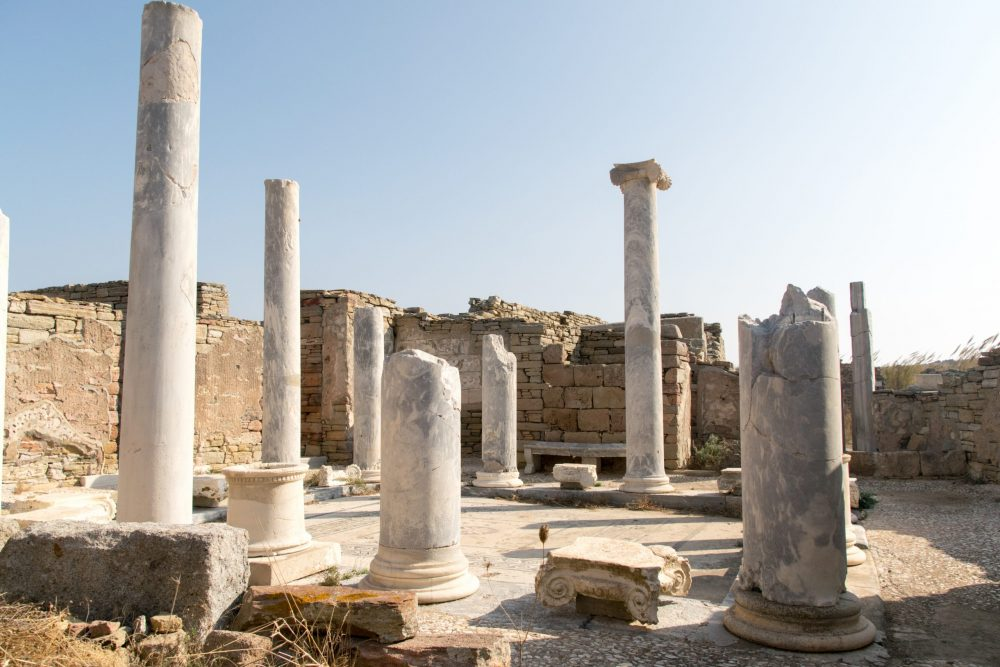 Historical site of Delos with a day trip from Mykonos Greece
