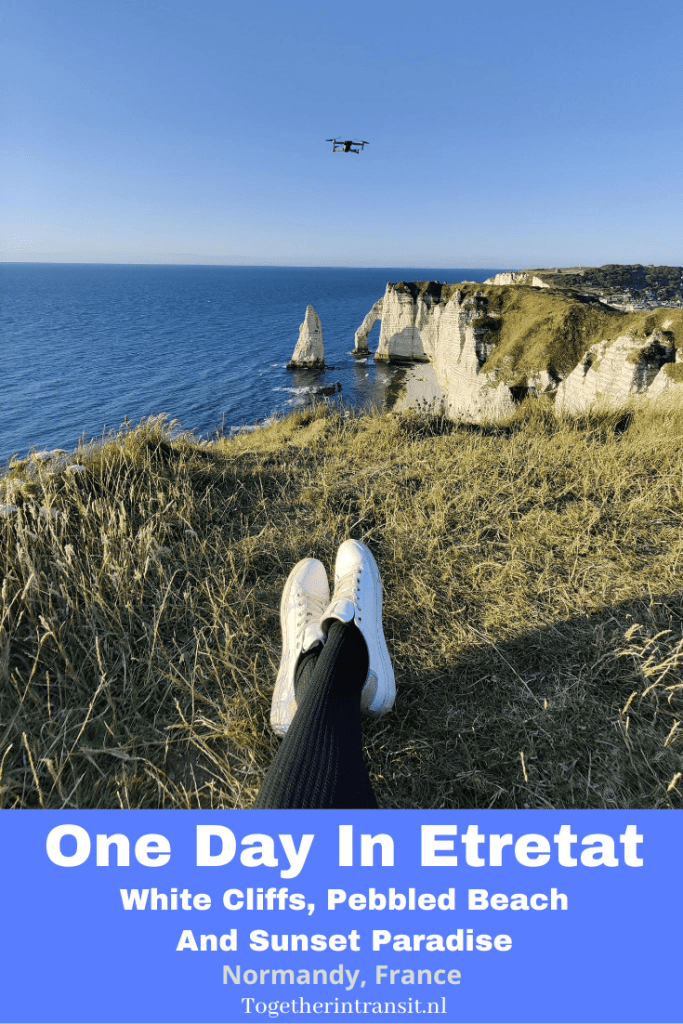 One Day In Etretat France: White Cliffs, Pebbled Beach And Sunset Paradise - Check out our itinerary of spending one day in Etretat France! This picturesque white cliff location is a must see pebbled beach and sunset paradise. #travel #france #vacation #reizen #etretat #normandy