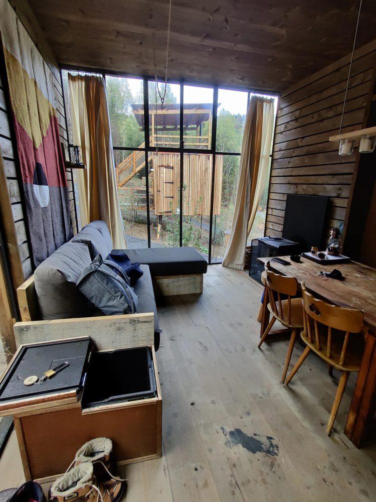 View inside the Nutchel cabin