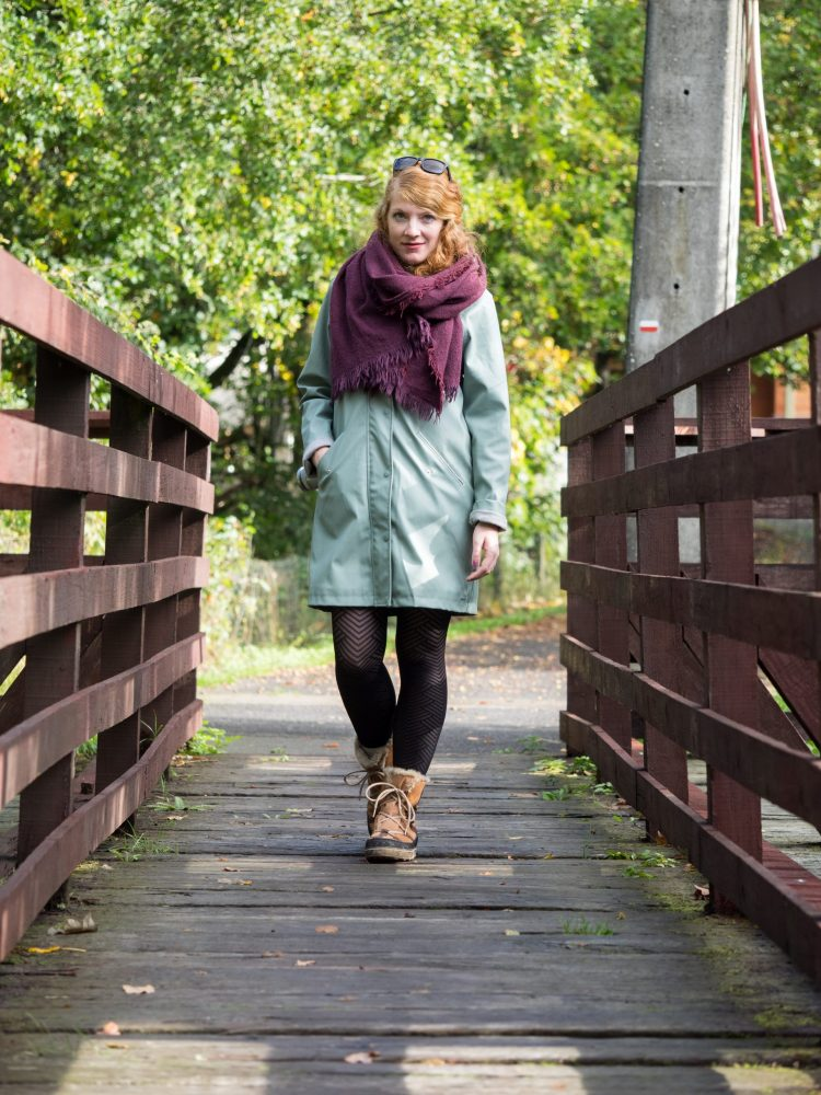 me walking along the bridge