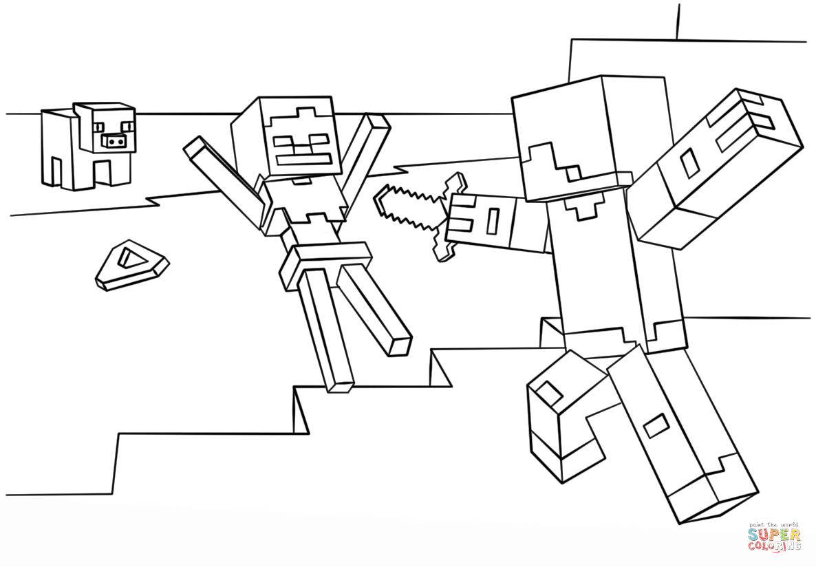 Mine Craft Coloring Pages Sanfranciscolife