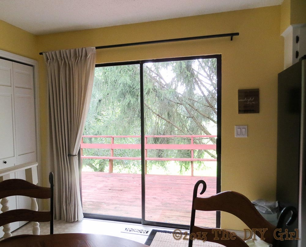 sliding patio door curtain rod