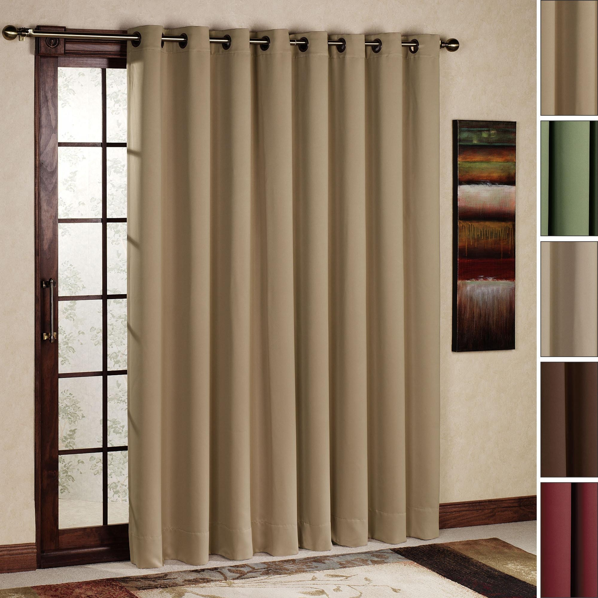 size of sliding glass door curtains