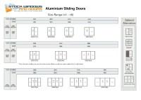 Standard Size Aluminium Sliding Doors