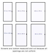 Sliding Screen Door Standard Sizes   Sliding Doors