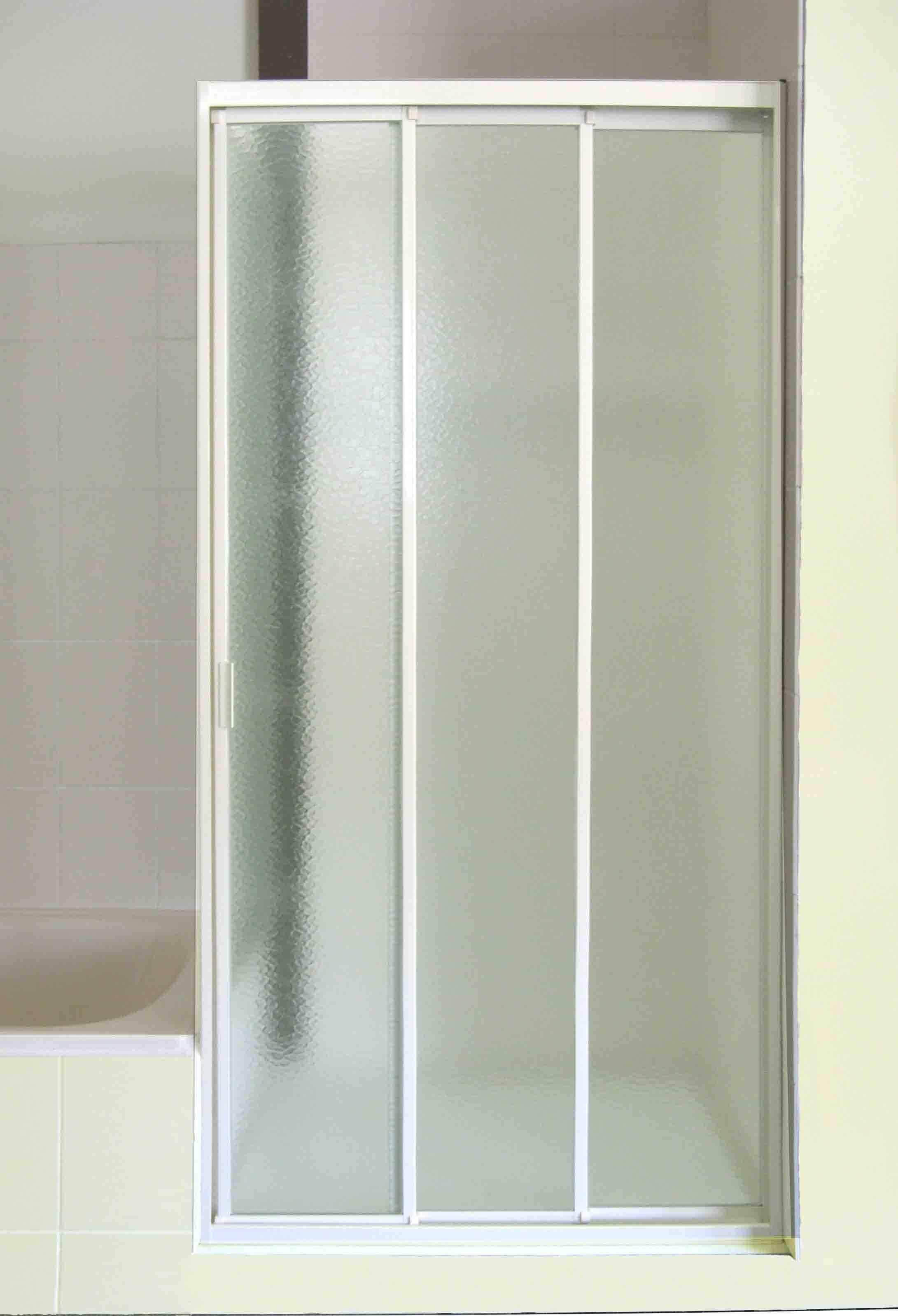 Three Panel Sliding Glass Shower Doors