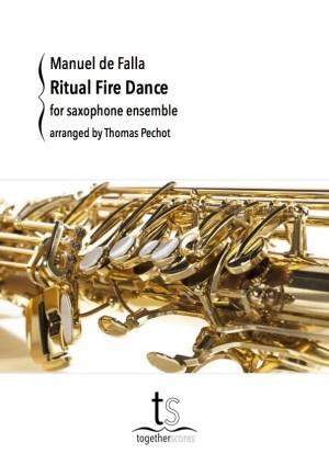 Partituren Bladmuziek Saxofoon Ensemble Ritual Fire Dance
