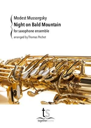 saxofoon ensemble partituur een nacht op de Kale Berg Moessorgski