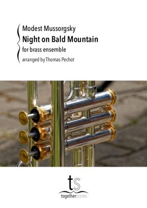 koper ensemble partituren een nacht op de kale berg