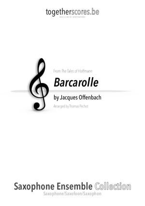 partitions saxophone ensemble barcarolle Offenbach