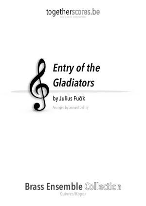 koper ensemble partituur bladmuziek entry of the gladiators fucik