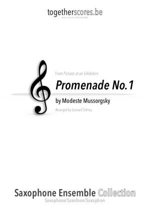 saxofoon ensemble partituur bladmuziek promenade moessorgski