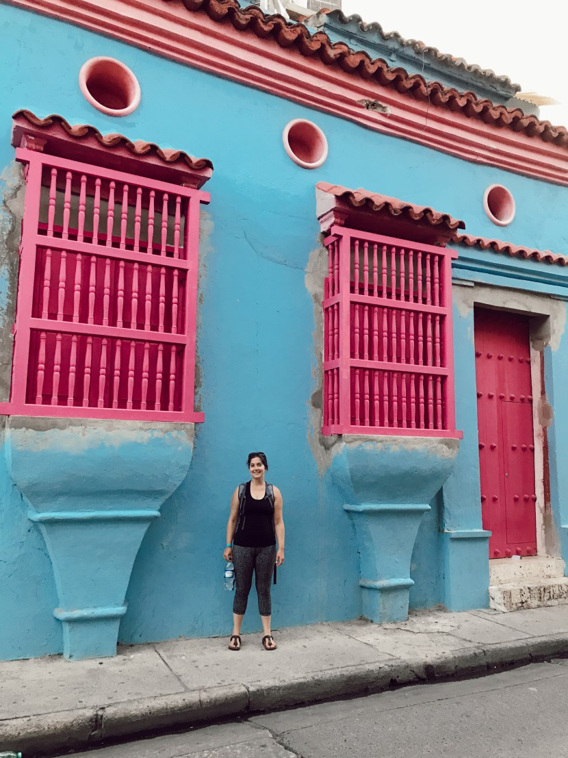 Centro Historico is full of colorful homes in Cartagena, Colombia